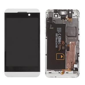 LCD-scherm en Digitizer met Frame voor BlackBerry Z10 4G(White)