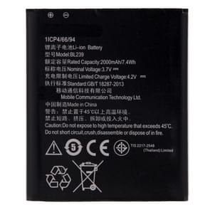 BL239 2000mAh oplaadbare Li-ion batterij voor Lenovo A399