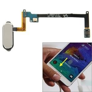 Home Button Flex kabel met fingerprint identificatie functie voor Galaxy Note 4 / N910(Grey)