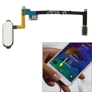 Home Button Flex kabel met fingerprint identificatie functie voor Galaxy Note 4 / N910(White)