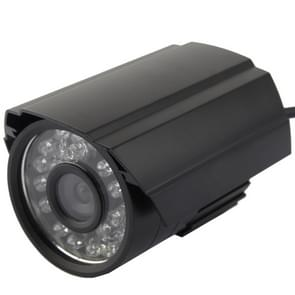 CMOS 420TVL 6mm lens metaal materiaal kleur infrarood camera met 24 LED  IR afstand: 20m