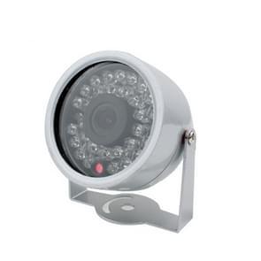 1/3 CMOS kleur 380TVL 30 LED Mini waterdichte camera (zilver)