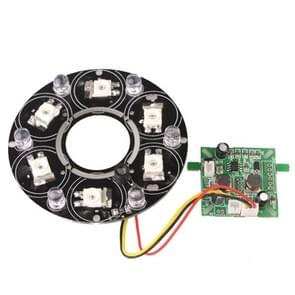 6 LED 8mm infrarood lamp Board voor CCD camera  IR afstand: 80-100m