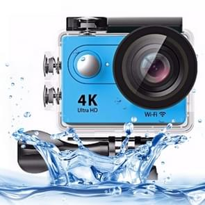 H9 4K Ultra HD1080P 12MP 2 inch LCD Screen WiFi Sports Camera, 170 Degrees Wide Angle Lens, 30m Waterproof(Blue)