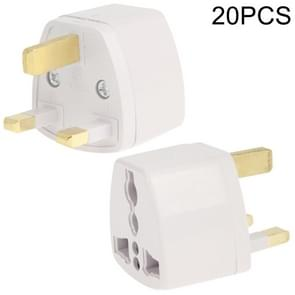 20 stuks Plug Adapter  Travel Power Adapter met UK Socket Plug