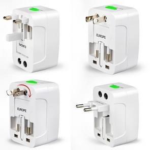Plug Adapter, Universal EU US UK AU Travel AC Power Adaptor Plug(White)