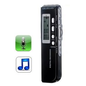 8 GB digitale Voice Recorder Dictaphone MP3-speler  Support telefoon opnamefunctie  VOX  voeding: 2 x AAA-battery(Black)