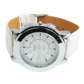 Stylish Quartz Wrist Watch Wristwatch with Leather Band(White)