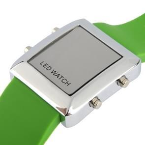 Mode digitale LED Quartz Wrist Watch (groen)