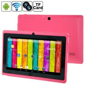 7.0 inch Tablet PC, 512MB+4GB, Android 4.2.2, 360 Degree Menu Rotation, Allwinner A33 Quad-core, Bluetooth, WiFi(Magenta)
