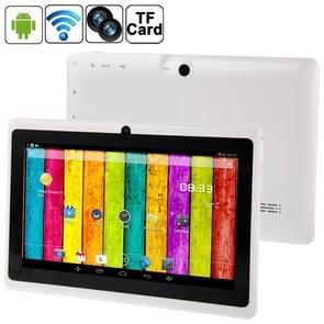 7.0 inch Tablet PC, 512MB+4GB, Android 4.2.2, 360 Degree Menu Rotation, Allwinner A33 Quad-core, Bluetooth, WiFi(White)