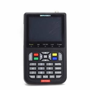 iBRAVEBOX V8 Finder Digital Satellite Signal Finder Meter, 3.5 Inch LCD Colour Screen, Support DVB Compliant & Live FTA(Black)
