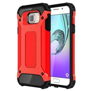 For Galaxy A3 (2016) / A310 Tough Armor TPU + PC Combination Case(Red)