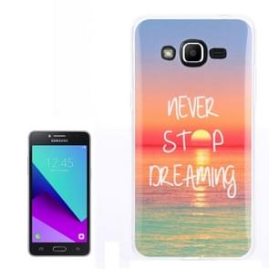 For Galaxy J2 Prime / G532 Sunrise at Sea Pattern TPU Back Case
