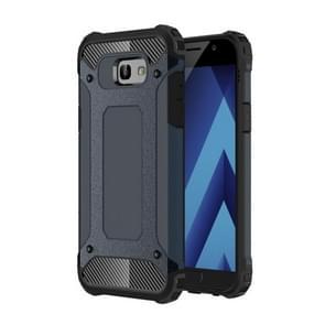 For Galaxy A3 (2017) / A320 Tough Armor TPU + PC Combination Case (Dark Blue)