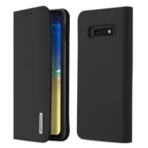 DUX DUCIS WISH Series TPU + PU + Leather Case for Galaxy S10 E, with Card Slots & Wallet (Black)