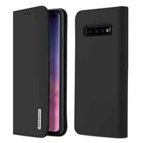 DUX DUCIS WISH Series TPU + PU + Leather Case for Galaxy S10 Plus, with Card Slots & Wallet (Black)