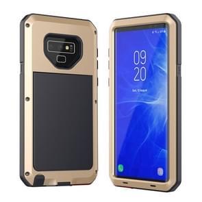Metalen schokbestendige dagelijkse waterdichte beschermhoes voor Galaxy Note 9 (goud)