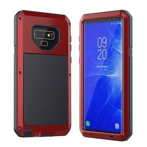 Metalen schokbestendige dagelijkse waterdichte beschermhoes voor Galaxy Note 9 (rood)