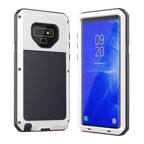 Metalen schokbestendige dagelijkse waterdichte beschermhoes voor Galaxy Note 9 (wit)