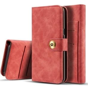 Retro Magnetic Detachable Horizontal Flip Leather Case for Galaxy S10 E, with Card Slots & Wallet & Photo Frame (Red)