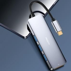 Rock USB-C naar HDMI + USB3. 0 * 3 adapterkabel
