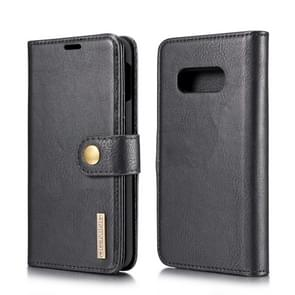 DG.MING Crazy Horse Texture Flip Detachable Magnetic Leather Case for Galaxy S10 E, with Holder & Card Slots & Wallet (Black)