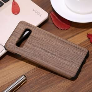 Shockproof TPU + Wood Protective Case for Galaxy S10