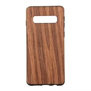 Shockproof TPU + Wood Protective Case for Galaxy S10 Plus
