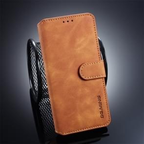 DG. MING Retro olie kant horizontale Flip Case voor Galaxy S10  met houder & kaartsleuven & portemonnee (bruin)