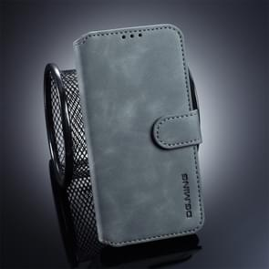 DG.MING Retro Oil Side Horizontal Flip Case for Galaxy S10 E, with Holder & Card Slots & Wallet (Grey)