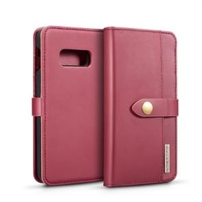 DG.MING Lambskin Detachable Horizontal Flip Magnetic Case for Galaxy S10 E, with Holder & Card Slots & Wallet(Red)