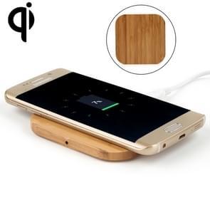 5V 1A Output Qi standaard Square Shape bamboe draadloze oplader  steun QI standaard telefoons  voor iPhone X & 8 & 8 Plus  Galaxy S8 & S8 PLUS  LG G3 & G2 & G10  Nokia Lumia 820  Google Nexus 6 & 5 & 4 en andere QI standaard Smartphones