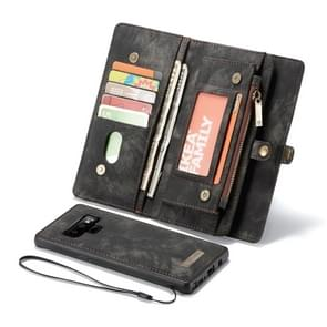 CaseMe-008 Detachable Multifunctional Horizontal Flip Leather Case for Galaxy Note9, with Card Slot & Holder & Zipper Wallet & Photo Frame(Black)