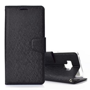 Silk Texture Horizontal Flip Leather Case for Galaxy Note 9, with Holder & Card slots & Wallet & Photo Frame(Black)