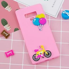 Paster Pattern Soft TPU Protective Case For Galaxy Note9(Bicycle and Balloon)
