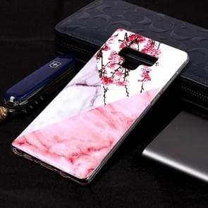 Marble Pattern Soft TPU Case For Galaxy Note9(Plum Blossom)
