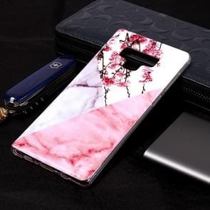 Marble Pattern zachte TPU Case voor Galaxy Note9(Plum Blossom)