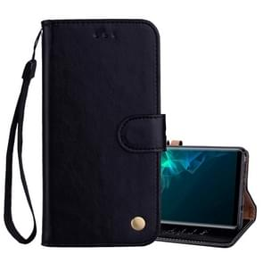 Business Style Oil Wax Texture Horizontal Flip Leather Case, with Holder & Card Slots & Wallet For Galaxy Note9(Black)