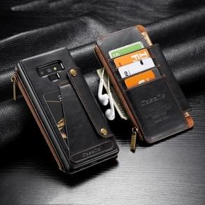CaseMe-011 Detachable Multifunctional Horizontal Flip Leather Case with Card Slot & Holder & Zipper Wallet For Galaxy Note9(Black)