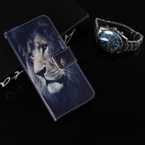 Colored Drawing Pattern Horizontal Flip Leather Case with Holder & Card Slots & Wallet For Galaxy Note9(Lion Head)