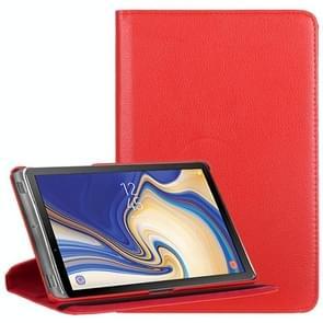 Litchi Textuur Horizontale Flip 360 graden rotatie lederen hoes voor Galaxy Tab S4 10 5  met houder (rood)