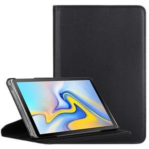 Litchi Texture Horizontal Flip 360 Degrees Rotation Leather Case for Galaxy Tab A 10.5, with Holder (Black)