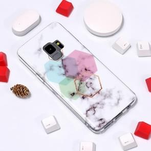 Marble Pattern TPU Soft Protective Case For Galaxy S9(Hexagon)