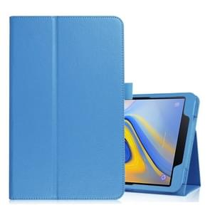Litchi Texture Horizontal Flip Leather Case for Samsung Galaxy Tab A 10.5 T590 / T595 / T597, with Holder (Blue)
