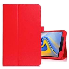 Litchi Texture Horizontal Flip Leather Case for Samsung Galaxy Tab A 10.5 T590 / T595 / T597, with Holder (Red)