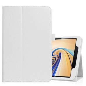 Litchi Texture Horizontal Flip Leather Case for Samsung Galaxy Tab S4 10.5 T830 / T835, with Holder (White)