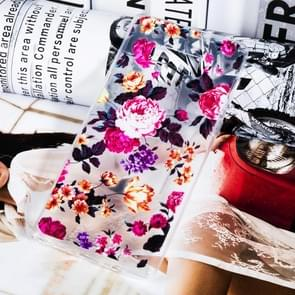 Transparent Varnish Painting Soft TPU Case For Galaxy Note9(Flowers)