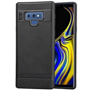 Litchi Texture TPU Shockproof Case for Galaxy Note9(Black)