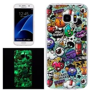 For Galaxy S7 Edge / G935 Noctilucent Rubbish Pattern IMD Workmanship Soft TPU Protective Case